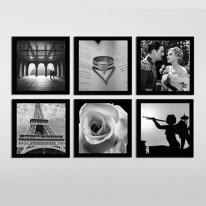 프레임 아트액자 / FA211 네거티브 러브스토리 정사각형 액자 6개 세트 -정방 유럽풍 인테리어 액자