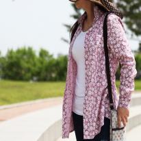 워싱 크리즈가공]대폭 벚꽃앤딩-핑크(a1536)