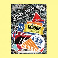 스티커붐 캠핑스티커 vol.5 -냉장고스티커/캐리어스티커
