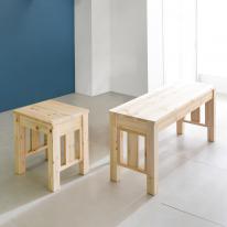 이사벨 디자인 원목 1인,2인벤치 스툴 체어 의자