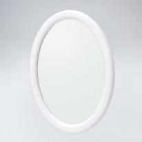뷰티 타원 원목 거울(화이트)