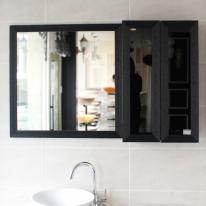 유화 욕실거울(블랙)