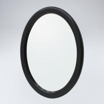 뷰티 타원 원목 거울(블랙)