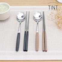 [마호커트러리]틴트 성인용 한식수저 2종세트(숟가락+젓가락) 2개