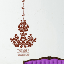 앤틱샹드리에 S645-다마스크 스티커벽지 포인트시트지