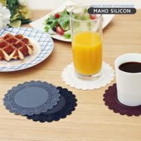 [마호]실리콘 레이스 컵받침_대 11.7cm