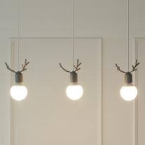 [LED] 디어3등 펜던트-그레이