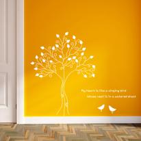 그래픽스티커 - 새와 나무 06