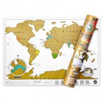 럭키스 스크래치 맵 세계지도 (소형사이즈) Scratch Map Travel Edition