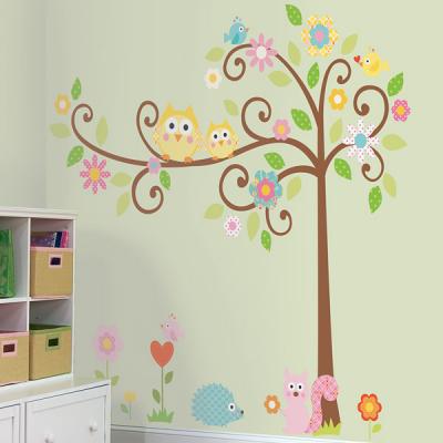 부엉이와 꽃나무