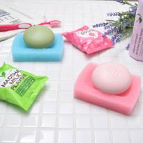 [일본완제품]세이와 프로 스펀지 비누받침 1P