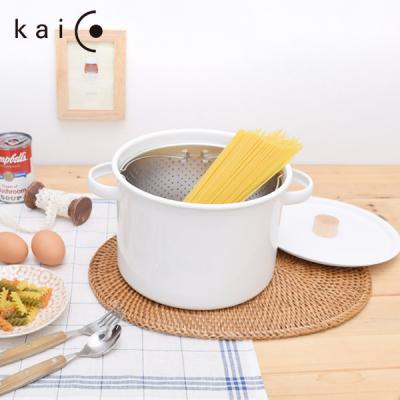 (무료배송)카이코 법랑 파스타냄비 5.7L