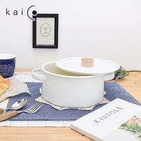 (무료배송)[일본명품]카이코 법랑 양수냄비 2.6L