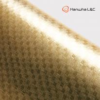 [한화L&C] 보닥 인테리어필름 패브릭 럭셔리 골드 91cm x 50cm/싱크대필름시공/싱크대필름/필름시트지