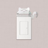 동물왕국 다람쥐 스위치 아크릴 스티커