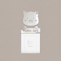 12간지 돼지 스위치 아크릴 스티커