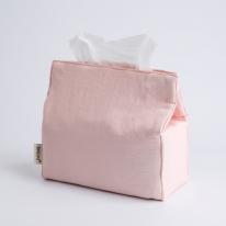 데일리 린넨 티슈커버 - 핑크