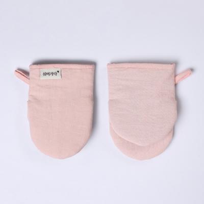 데일리 린넨 주방장갑 - 핑크