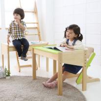 유아 원목 책상 의자 세트