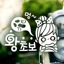 멍 왕초보 / 초보운전 반사스티커 자동차스티커
