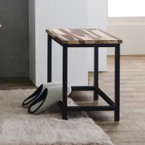 솔로400소노클린(기본형) 원목 철제선반 의자 1인벤치