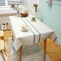 더블스트라이프 - 블루 방수식탁보