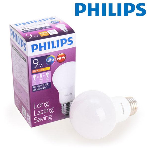필립스 LED 전구 9W (삼파장 20W 대체)
