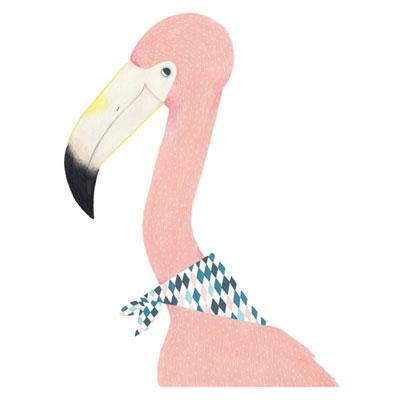 [Millim] Zoo Print Flamingo
