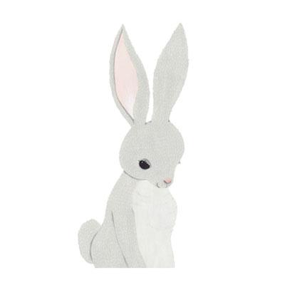 [Millim] Zoo Print Rabbit