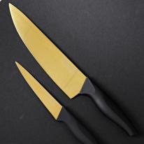 [로얄티라인] 2종 티타늄코팅 칼세트 (골드)
