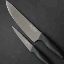 [로얄티라인] 2종 티타늄코팅 칼세트 (블랙)