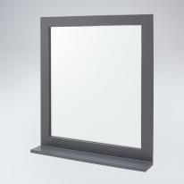 미라클 원목 선반형 거울(그레이)