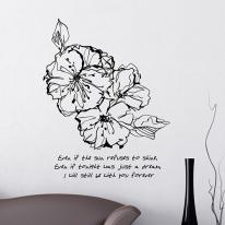 스케치플로라 (켈리꽃) S650-포인트데코 그래픽스티커