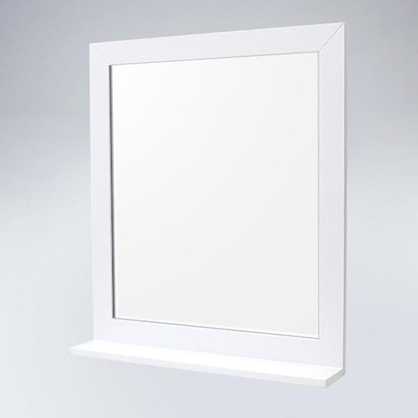 미라클 원목 선반형 거울(화이트)