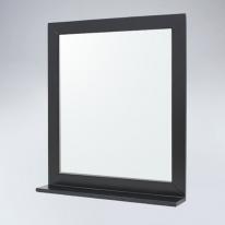 미라클 원목 선반형 거울(블랙)