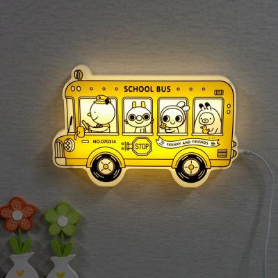 뉴 프랭키 캐릭터 LED 스쿨버스 벽등