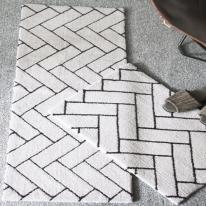 헤링본 타일 매트 라이트그레이 Herringbone tile mat lightgray
