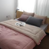 천연염색 핑크베이지 이중거즈 양면 컴포터 (싱글단품,싱글세트 )