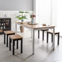 4인 6인용 철제식탁 2인벤치의자 탁자 테이블 식탁의자세트