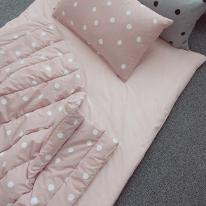 투톤 낮잠 패드-핑크