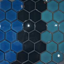 [어반테고]육각 모자이크 핸드메이드 타일(3 COLOR)1BOX 15장(0.76M2)