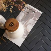 [어반테고]헤링본 모자이크 직사각타일 310*340 | 1BOX 0.9m2 15pcs | 6color | 다크그레이