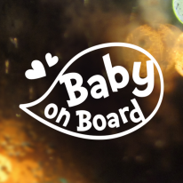 말풍선 baby on board / 아기가타고있어요 반사스티커 자동차스티커