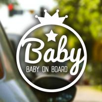 왕관 Baby / 아기가타고있어요 반사스티커 자동차스티커