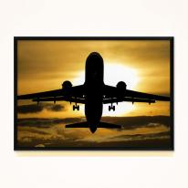 프레임 아트액자 / FA258 석양 속의 비행기 북유럽풍액자 클래식액자
