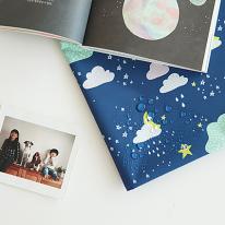 [대폭]방수천006-달빛구름(네이비)