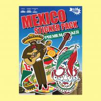 스티커붐 멕시코 테마 스티커 -냉장고스티커/캐리어스티커