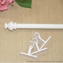 창데코 15mm 레이스봉 화이트 (브라켓 포함)