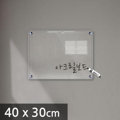 아크릴 보드 투명 칠판 40 x 30cm 5T (IH0001)