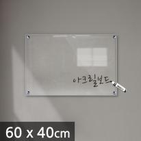 아크릴 보드 투명 칠판 60 x 40cm 5T (IH0003)